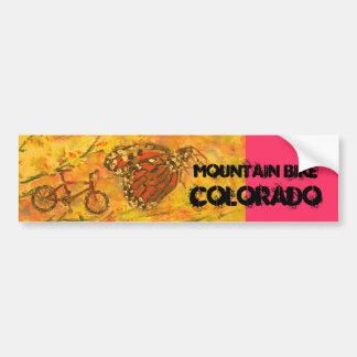 Mountain Bike Colorado Car Bumper Sticker