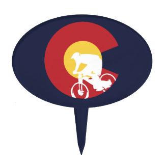 Mountain Bike Colorado Cake Topper