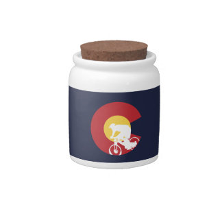 Mountain Bike Colorado Candy Jar