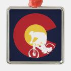 Mountain Bike Colorado Metal Ornament