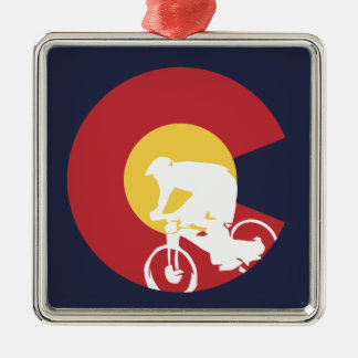 Mountain Bike Colorado Metal Ornament