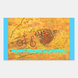 Mountain Bike Colorado Rectangular Sticker
