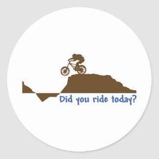 Mountain Bike - Day Ride Classic Round Sticker