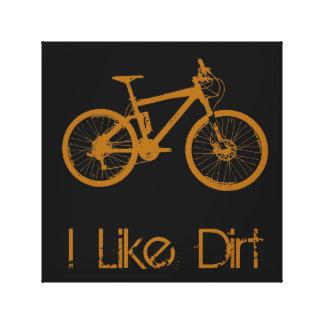 Mountain Bike Dirt Canvas Print