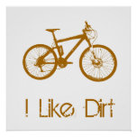 Mountain Bike Dirt Poster