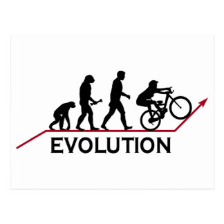 Mountain Bike Evolution Post Cards