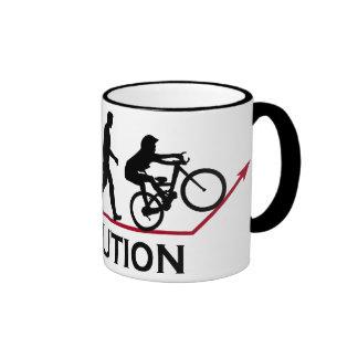 Mountain Bike Evolution Ringer Mug