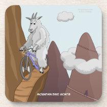 Mountain Bike Goats Coaster