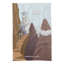 Mountain Bike Goats Hand Towel
