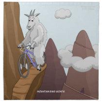 Mountain Bike Goats Napkin