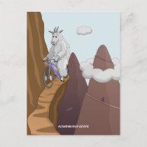 Mountain Bike Goats Postcard