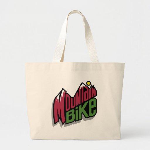 Mountain Bike Jumbo Tote Bag