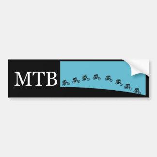 Mountain bike jump bumper sticker