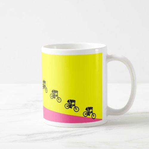 Mountain bike jump cup classic white coffee mug