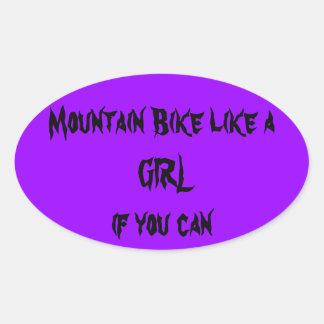 Mountain bike like a girl sticker