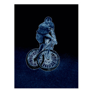 Mountain bike Llandegla mtb bmx Postcard