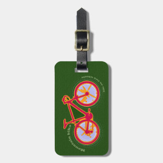 mountain bike luggage tag
