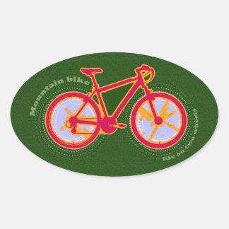 mountain bike oval sticker
