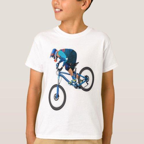 mountain bike print tee