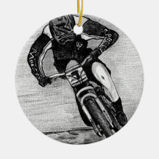 Mountain Bike Ride Ceramic Ornament