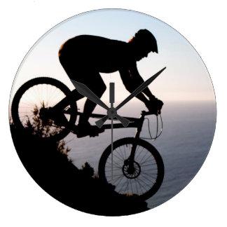 Mountain Bike Rider. Lions Head, Cape Town Wall Clock