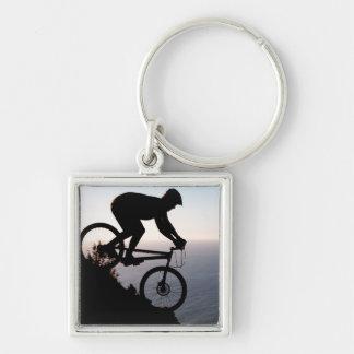 Mountain Bike Rider. Lions Head, Cape Town Keychain
