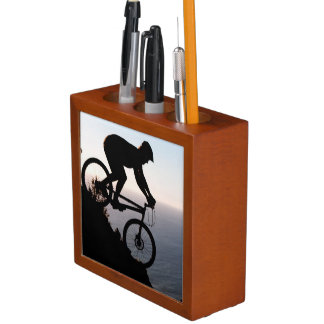 Mountain Bike Rider. Lions Head, Cape Town Pencil Holder