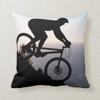 Mountain Bike Rider. Lions Head, Cape Town Pillows