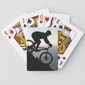 Mountain Bike Rider. Lions Head, Cape Town Playing Cards