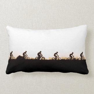 Mountain Bike Riders Make Their Way Over The Dam Pillows