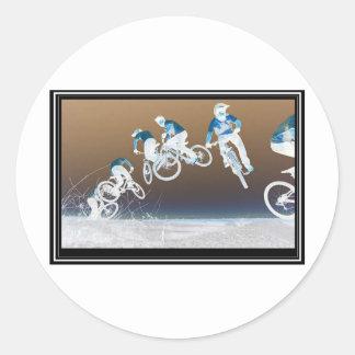 Mountain Bike Sequence Classic Round Sticker