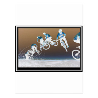Mountain Bike Sequence Postcard