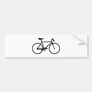 Mountain Bike Silhouette Bumper Sticker