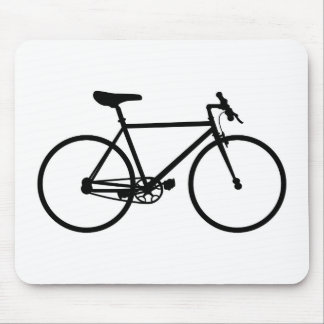 Mountain Bike Silhouette Mouse Pad