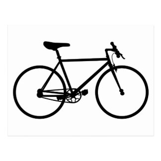 Mountain Bike Silhouette Postcard