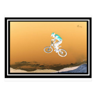 Mountain Bike Sun Postcard