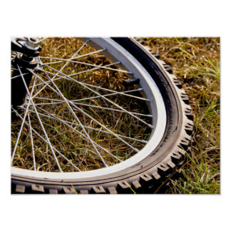 Mountain Bike Tire Closeup Poster