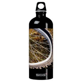 Mountain Bike Tire Closeup Water Bottle