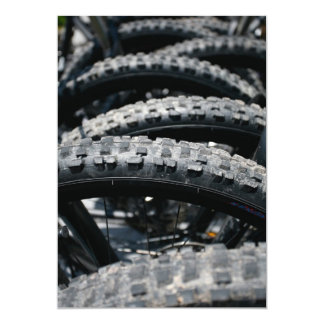Mountain bike tires 5x7 paper invitation card