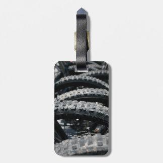 Mountain bike tires bag tag