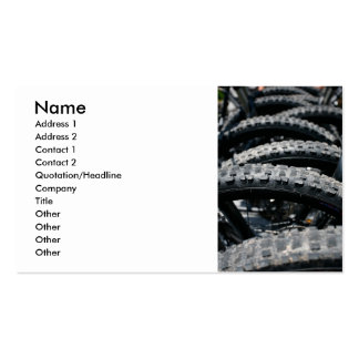 Mountain bike tires business card