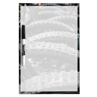Mountain bike tires Dry-Erase board