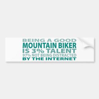 Mountain Biker 3% Talent Car Bumper Sticker