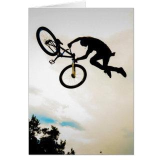 Mountain Biker Air Time Silhouette Cards