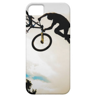 Mountain Biker Air Time Silhouette iPhone 5 Cases