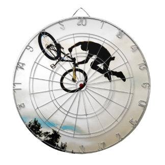 Mountain Biker Air Time Silhouette Dartboard