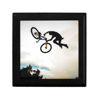 Mountain Biker Air Time Silhouette Jewelry Boxes