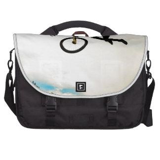 Mountain Biker Air Time Silhouette Laptop Commuter Bag