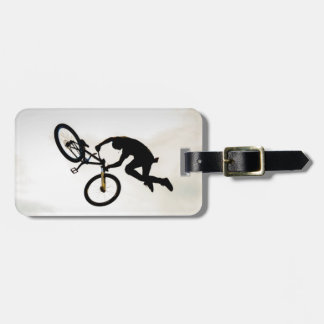 Mountain Biker Air Time Silhouette Tags For Luggage