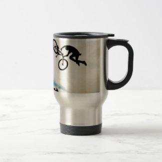 Mountain Biker Air Time Silhouette Mug